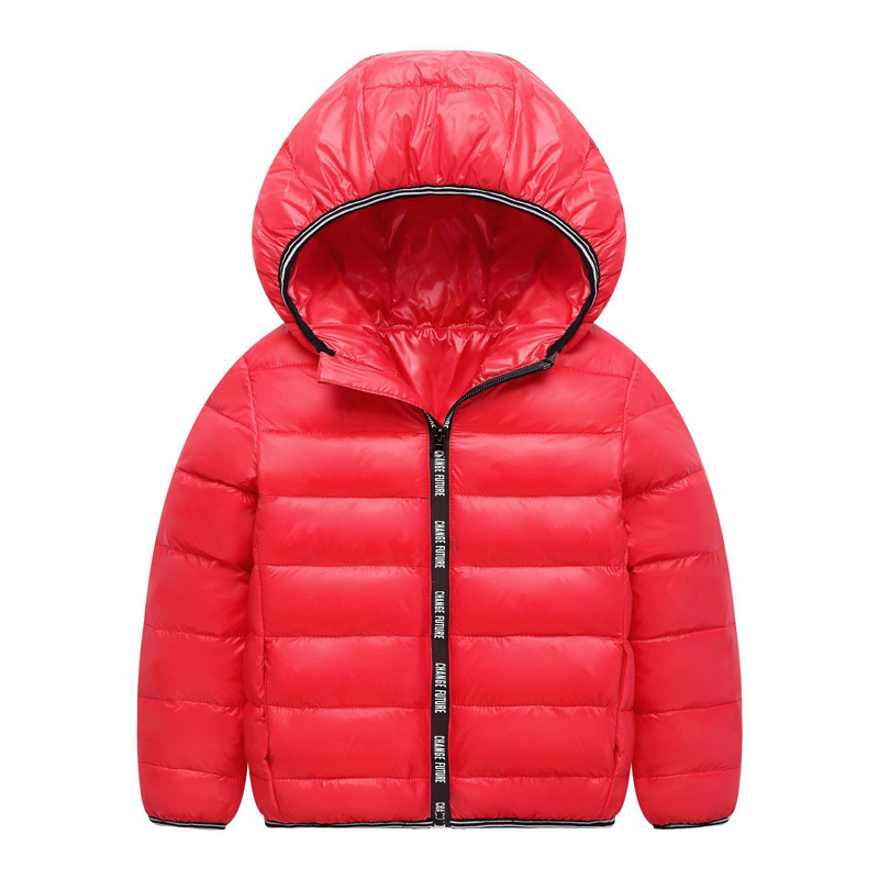 Toddler Girl Slogan Zipper Lightweight Packable Jacket Outerwear
