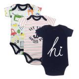 Baby Boy Print Letters Hi Short Sleeve Cotton Bodysuit