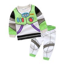 Toddler Boy 2 Pieces Pajamas Sleepwear Spaceman Long Sleeve Shirt & Legging Sets
