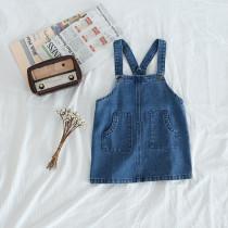 Toddler Girl Blue Denim Overalls Dresses