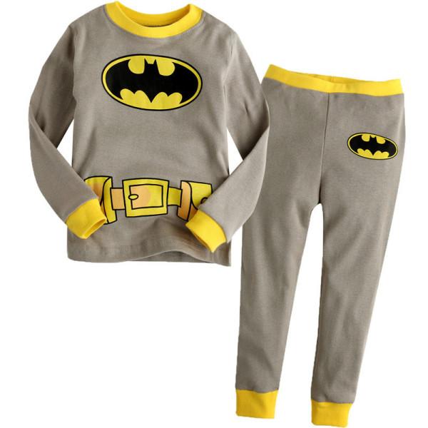 Toddler Boy 2 Pieces Pajamas Sleepwear Batman Long Sleeve Shirt & Leggings Set