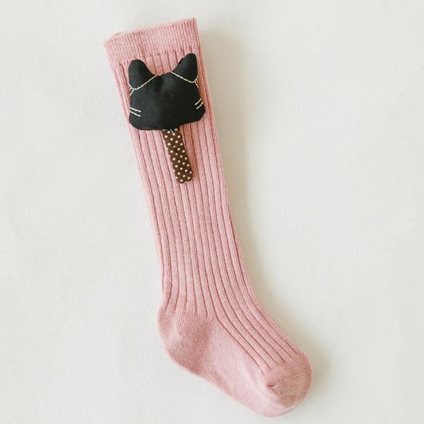 Baby Toddler Girls Knee-high Pink Fox Tube Stocking