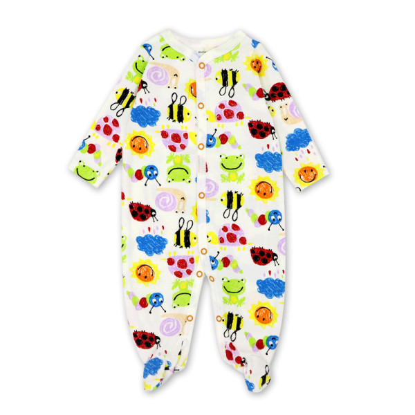 Baby Boy Print Color Ladybugs Footed Pajamas Sleepwear Cotton Infant One-piece(0-1Year)