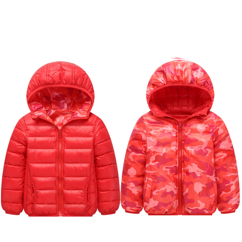 Toddler Girl Double-faced Zipper Lightweight Packable Jacket Outerwear