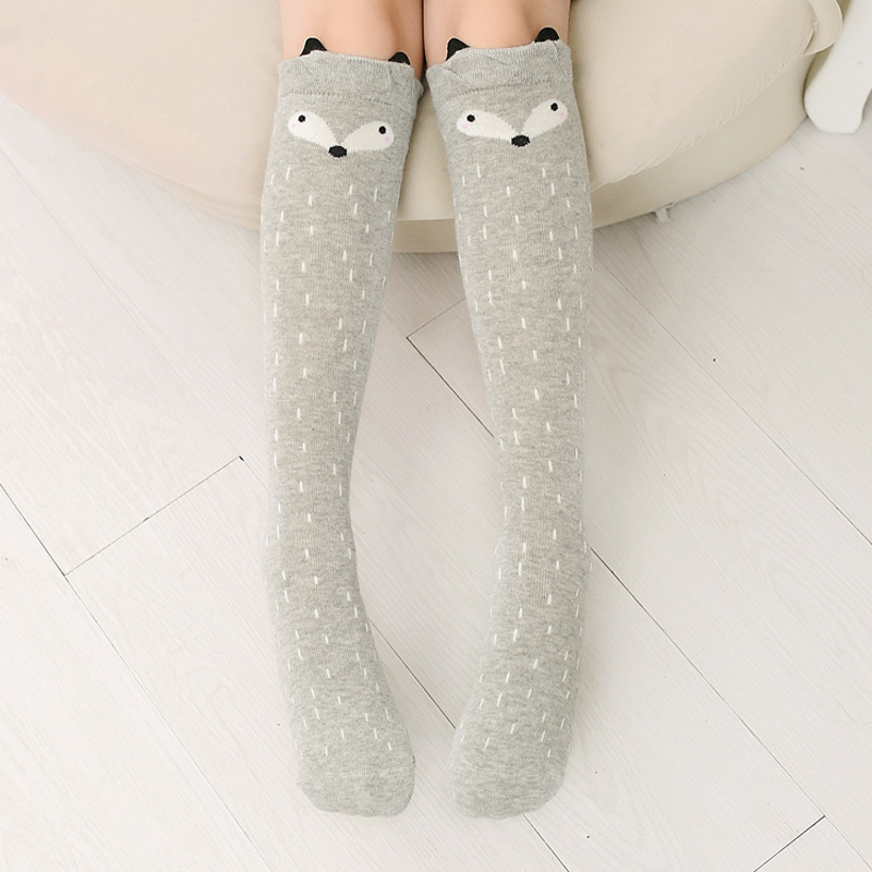 Baby Toddler Girls Knee-high Fox Cartoon Tube Stocking