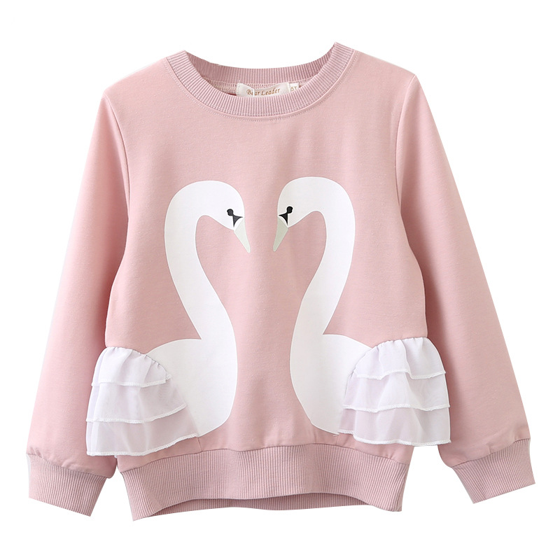 Toddler Girl Print Swans Long Sleeve Sweatshirt