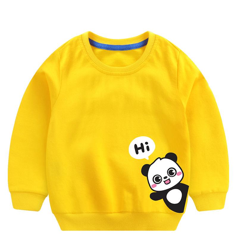 Toddler Boy Print Panda and Slogan Hi Long Sleeve Sweatshirt