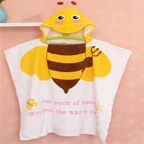 Baby Yellow Bee Face Hooded Bathrobe Towel Bathrobe Cloak Size 24 *47