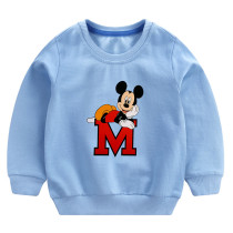 Toddler Boy Print Mickey and Letter M Long Sleeve Sweatshirt