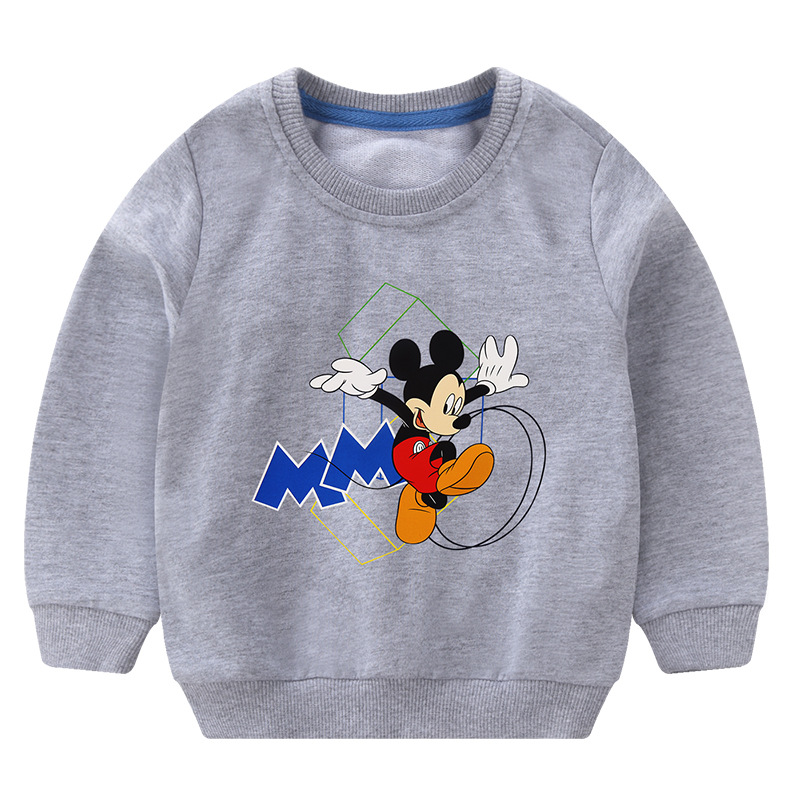 Toddler Boy Print Mickey Letter M Long Sleeve Sweatshirt
