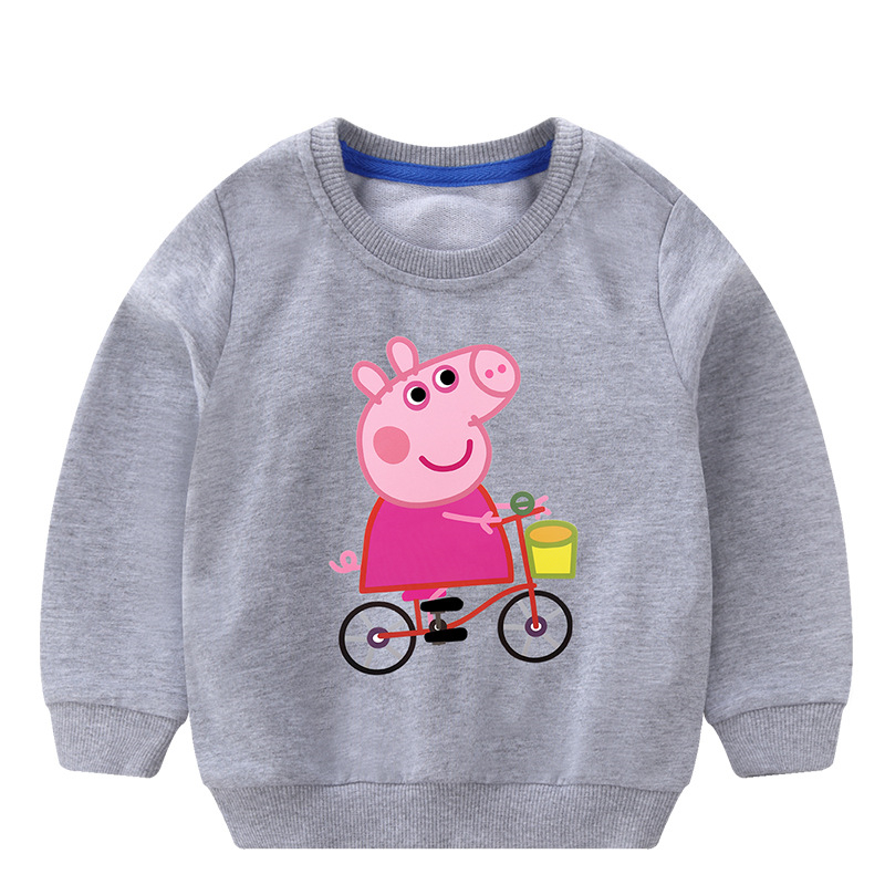 Toddler Girl Print Pink Pig Long Sleeve Sweatshirt