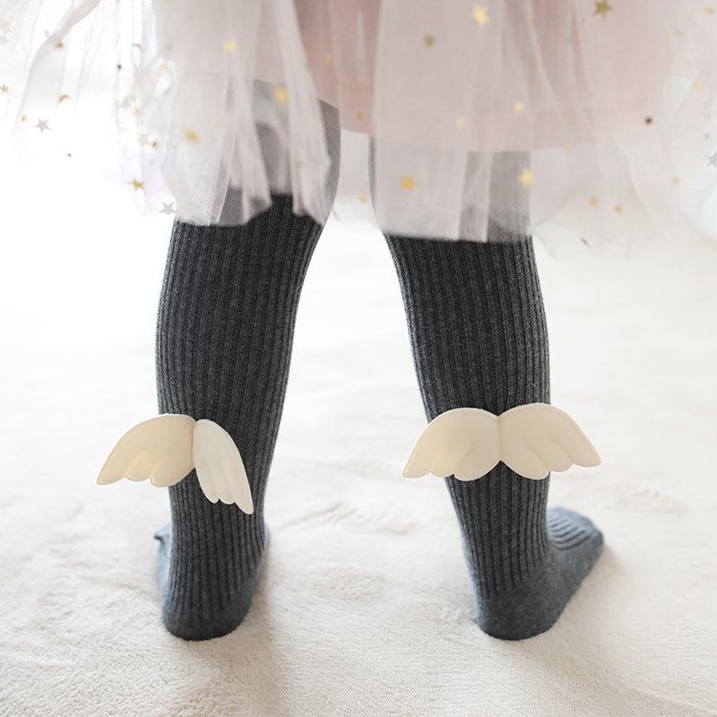 Baby Toddler Girls Tights Angel Wings Pantyhose Cotton Warm Leggings Stockings