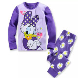 Toddler Girl 2 Pieces Pajamas Sleepwear Donald Duck Long Sleeve Shirt & Legging Sets