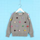Toddler Girl Knit Pullover Pompom Sweater