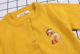 Toddler Girl Knit Cardigan Pure Color Thin Sweater My Little Pony Pattern
