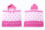 Baby Pink Bowknot Face Hooded Bathrobe Towel Bathrobe Cloak Size 24 *47
