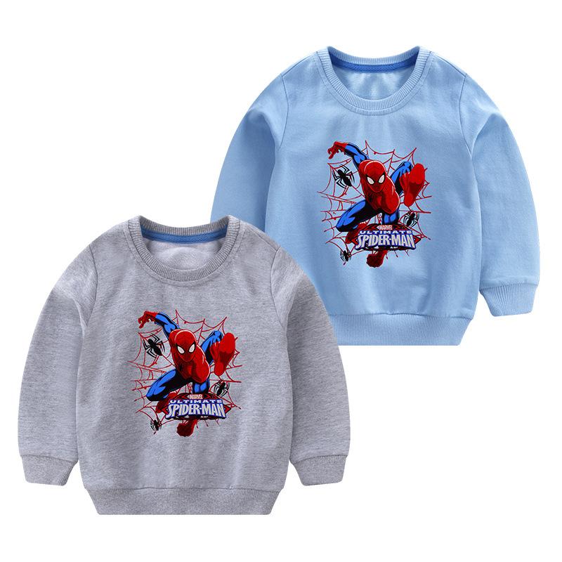 Toddler Boy Print Spider MAN Long Sleeve Sweatshirt