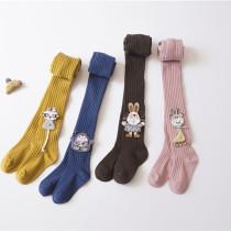 Baby Toddler Girls Tights Animal Badge Pantyhose Cotton Warm Leggings Stockings