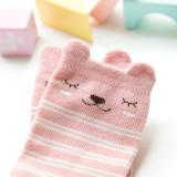 Baby Toddler Girl Anti-skid Socks Pink Stripes Print Bea Socks