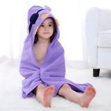 Baby Purple Bird Face Hooded Bathrobe Towel Bathrobe Cloak Size 28 *55