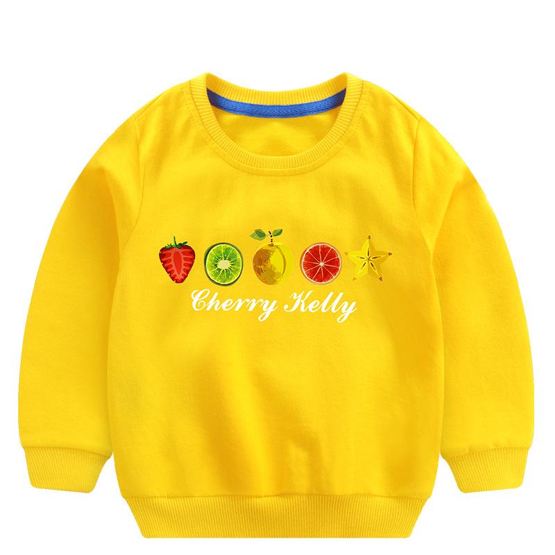 Toddler Girl Print Fruits Long Sleeve Sweatshirt