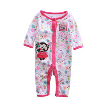 Baby Girl Snap-Up Print Flowers Cotton Long Sleeve One piece