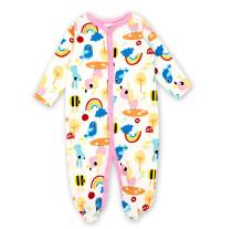 Baby Girl Rainbow Footed Pajamas Sleepwear Cotton Infant One-piece(0-1Year)