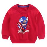 Toddler Boy Print Cartoon Captain Sleeve Sweatshirt