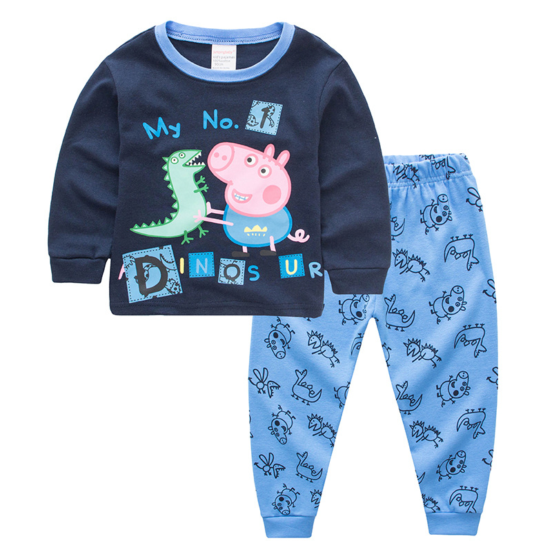 Toddler Boy 2 Pieces Pajamas Sleepwear Peppa Pig Long Sleeve Shirt & Legging Sets
