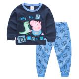 Toddler Boy 2 Pieces Pajamas Sleepwear Peppa Pig Long Sleeve Shirt & Legging Sets