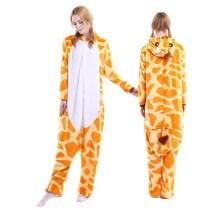 Unisex Adult Pajamas Yellow Giraffe Animal Cosplay Costume Pajamas