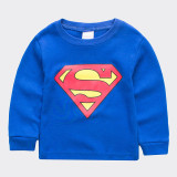 Toddler Boy 2 Pieces Pajamas Sleepwear Superman Long Sleeve Shirt & Legging Sets