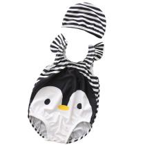 Baby 3D Cute Penguin Swimsuit With Swim Cap 0-3 Years