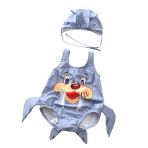 Baby 3D Cute Walrus Swimsuit With Swim Cap 0-3 Years