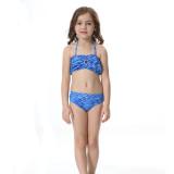 3PCS Kid Girls Mermaid Tail For Fancy Princess Bikini Swimsuit