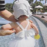 Baby Tutu Angel's Wings Swimsuit With Swim Cap 0-5 Years