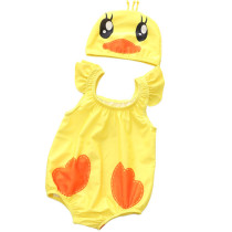 Baby 3D Cute Duck Swimsuit With Swim Cap 0-3 Years