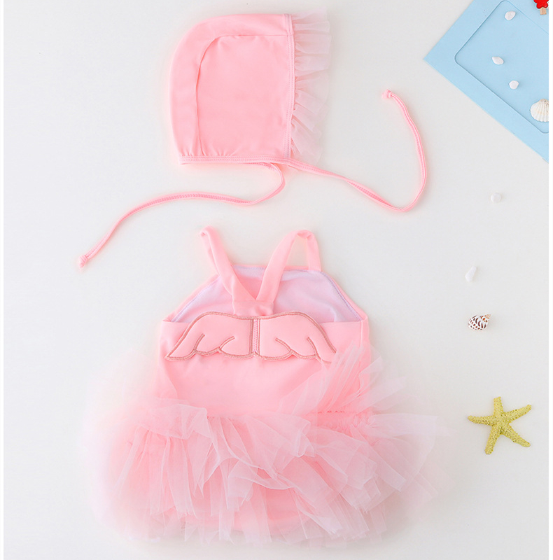 Baby Tutu Angel's Wings Swimsuit With Swim Cap 0-5 Years