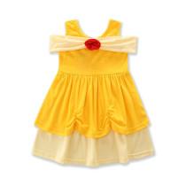 Girls Yellow Princess Dress