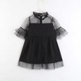 Mommy and Me Ruffles Black Mesh Princess Dresses