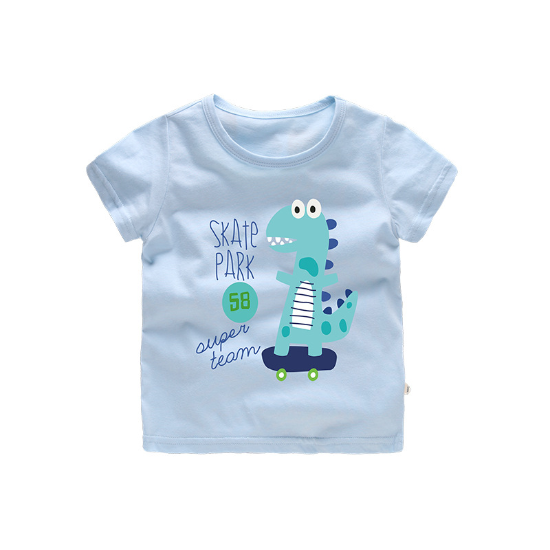 Boys Prints Cartoon Dinosaur T-shirts