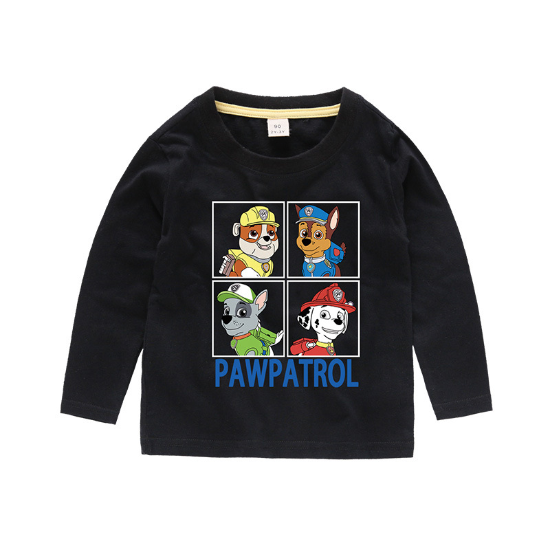 Boys Prints Cartoon Dogs Long Sleeves Tee