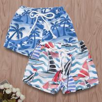 Boys Print Sailboat Shorts