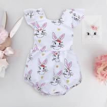 Baby Girl Print Rabbits Bodysuit