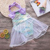 Baby Girl Ombre Scales Tutu Bowknot Bodysuit