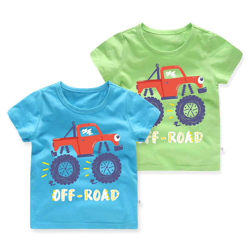 Boys Prints Cartoon Cars T-shirt
