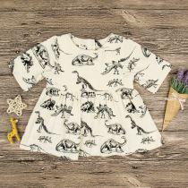 Toddler Girls Print Jurassic Dinosaurs Skaters Dress
