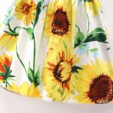 Girls Print Sunflowers Slip A-line Dress
