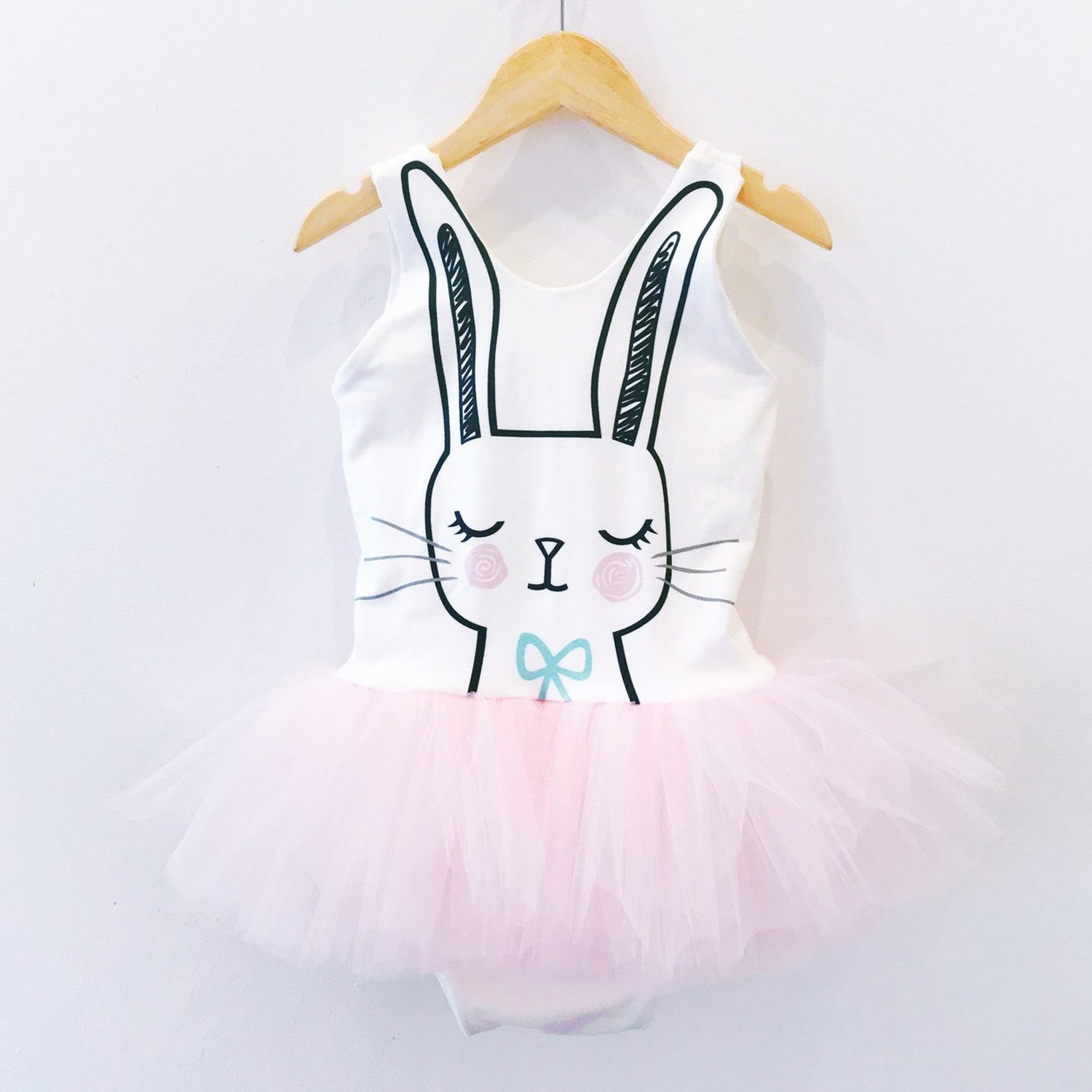 Toddler Girls Print Rabbit Tutu Ruffles Jumpsuits