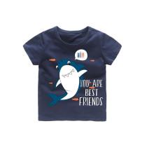 Boys Prints Shark Fish T-shirts